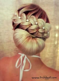 Bun snd braid hairstyle