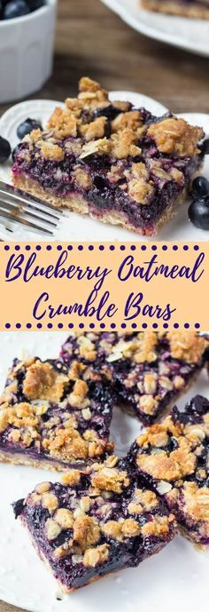 Blueberry Oatmeal Crumble Bars These blueberry oatmeal crumble bars are bursting with juicy blueberries, and filled with crunchy oatmeal crumble. Delicious for breakfast or dessert. The post Blueberry Oatmeal Crumble Bars appeared first on Womans Dreams. Dessert Oreo, Coconut Dessert, Brownie Desserts, Dessert Bars, Healthy Desserts, Just Desserts, Delicious Desserts, Yummy Food, Yummy Eats