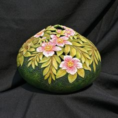 Wild Roses Carved Gourd by GOURDSByGaryKvalheim on Etsy