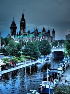 Ottawa Parliament Buildings and Rideau Canal. Ottawa Parliament, Enchanted, Mystic, Buildings, Canada