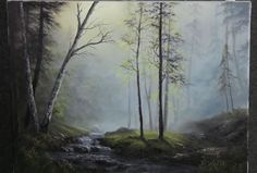 Paint with Kevin Hill - Glistening Forest Creek (+playlist)