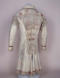 Animal Hide Coat With Quill Embroidery (1840)