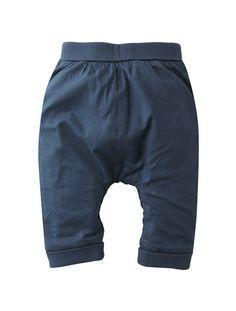 Newborn Reversible Harem Pants Coral+Grey-navy+Taupe