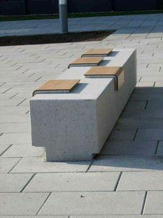 #Banca #Diseño #Urbano #moviliario #urbano #pedazos #de #madera