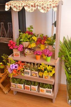 play flower market stall  €196