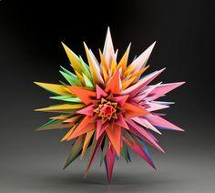 Lotus, 1974 - The Geometric Sculptures of Morton C. Geometric Decor, Geometric Shapes, Solid Geometry, Geometric Sculpture, Candy Colors, Backdrops, Lotus, Mad, Decorations