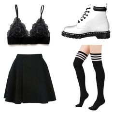 """""""Halsey Inspired Outfit #1"""" by phoenixevangeline ❤ liked on Polyvore featuring moda, Avelon y Dr. Martens"""