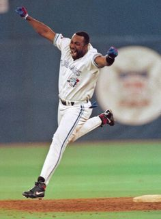 Toronto Blue Jays' Joe Carter - Gm winning, World Series winning walk off homer!, The Toronto Blue jays became the FIRST non-US team to win the World Series. Sports Baseball, Baseball Players, Baseball Field, Baseball Nails, Twins Baseball, Royals Baseball, Baseball Shirts, Basketball, World Series History