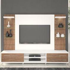 Quer barato? Rack com painel para tv até 55 polegadas por R$ 2.495,61 - Loja Lojas KD - QueroBarato!