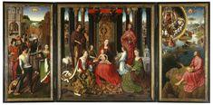 oud st. jan bruges   ... Johannesretabel, 1479, Memling in Sint-Jan - Hospitaalmuseum, Brugge
