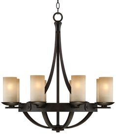 "Sperry 28"" Wide Bronze and Scavo Glass Chandelier - - Amazon.com $399.99 + $22 shipping"