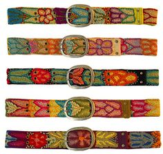 All of these belts are hand made by women's cooperatives in rural areas of Peru. The work is done according to fair trade guidelines; most of the artisans sew in their homes or at a communal studio workshop and are paid a living wage.