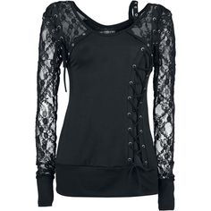 Longsleeve with lace made of 100% polyester and lacing on the front and on the back.