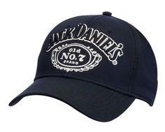 Jack Daniels Men's Old #7 Performance Baseball Ball Cap Hat Black/White JD77-117