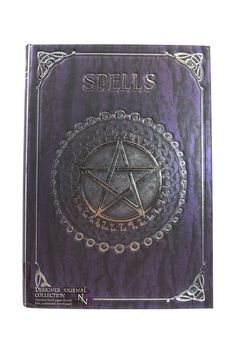 Embossed Spell Book Purple for sale online Pagan Symbols, Wiccan, Magick, Witchcraft, Dream Book, Book Journal, Bullet Journal, Creative Artwork, Beautiful Gifts