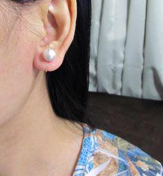 8mm Ivory Cotton Pearl Clip On Earring |D17| Pearl Wedding Clip on earring Bridal Clip on earring Non Pierced earring Pearl Stud Earring