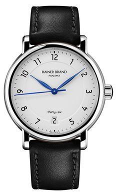 Rainer Brand: Panama thirty-six am schwarzen Lederband