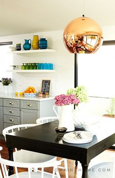 Having+a+Moment:+Blue-Gray+Kitchen+Cabinets+via+@domainehome