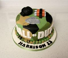 Call of Duty Birthday Cake made by happy little bakery  www.facebook.co.uk/happylittlebakery