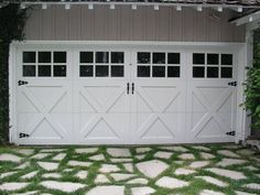 Photo of Dyer's Garage Doors - West Hills, CA, United States. Look at that driveway! A perfect fit. Metal Garage Doors, Double Garage Door, Carriage House Garage Doors, Garage Door Paint, Modern Garage Doors, Garage Door Styles, Carriage Doors, Garage Door Makeover, Garage Door Design