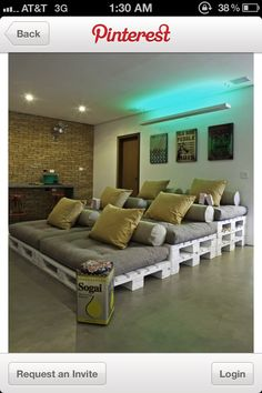 Fun idea for a home theater, I'm thinking enough room for me and the dogs.