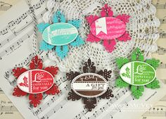 Snowflake Gift Tags by Dawn McVey for Papertrey Ink (October 2013)