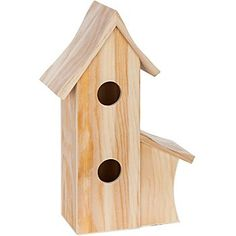 Großes Vogelhaus aus Holz, zum Bemalen und Bekleben, Farbe: natur, Größe: 24 x 12 x 36 cm.Die Holzoberfläche eignet sich hervorragend dazu individuell mit Serviettentechnik, Décopatch, Decoupage, Brandmalerei, Bemalung oder Ähnlichem gestaltet zu werden.