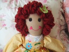 16 in cloth doll Sunny by SimpleTreasures03 on Etsy, $18.00