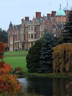 Sandringham House in Norfolk, England. The house is privately owned by the British Royal Family.