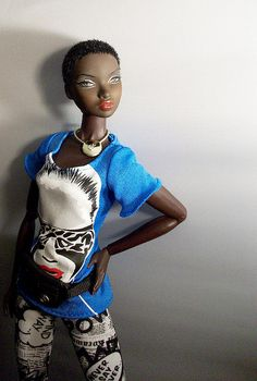 """We so enjoyed attending today's Fashion Dolls exhibit by artist Frantz Brent-Harris of www.sonadalls.com!  """"Nadja"""" by Integrity Dolls was our fave, so we came home and found another great shot of her here:"""