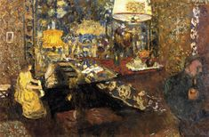 Edouard Vuillard / Misia at the Piano, 1899, oil on board, 55 x 80 cm, Private collection