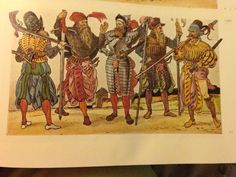 Military Costume: Germany 16th Century Mercenaries - A Pictorial History of Costume Arch Cape Press  Landsknecht  1560