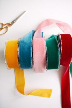Mini Organza Ribbon Bows with Red Metallic Treads Multi-Purpose Craft Supplies
