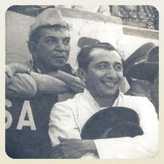 Cantinflas y Simón Díaz, posiblemente en el Nuevo Circo