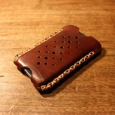 "The ""GLOVE""- Oiled leather iPhone 4 case"