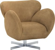Dieser Sessel aus dem Hause MACHALKE wird der neue Blickfang in Ihrem Wohnzimmer. Das Sitzmöbel überzeugt durch sein elegantes Design: Der hochwertige Lederbezug in Sand und die ausladende Form machen den Sessel zu etwas ganz Besonderem. Das Metallgestell ist drehbar, so können Sie Ihr Möbel beliebig ausrichten.