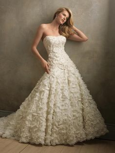 Strapless ball gown with loads of fabulous flowers!