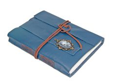 Large Navy Blue Leather Journal Wrap Journal Travel Journal Lined Paper Guestbook Ready to Ship #Etsy #Share #EtsyShop Shared by #BaliTribalJewelry http://etsy.me/1sDZ302