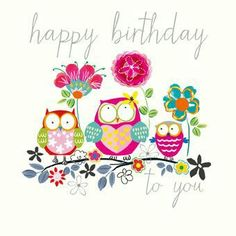 Biglietto Auguri Happy Birthday Owl Free Cards Messages