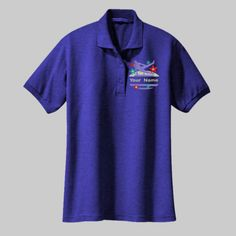 Embroidered Custom Gymnastic Ladies Silk Touch Polo