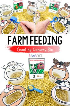 Farm Animals Preschool, Animal Activities For Kids, Preschool Farm Theme, Farm Activities, Kindergarten Activities, Preschool Activities, Preschool Learning, Farm Theme Crafts, Fun Crafts