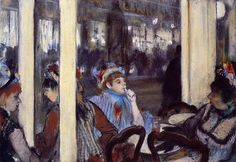Edgar Degas (France 1834-1917)- Women on a Cafe Terrace in the Evening 1877
