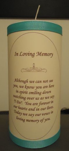 i want this when for when i get married in memory of my mom