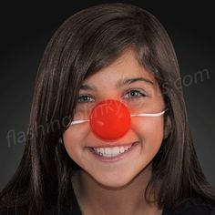Light Up Red Clown Nose with Blinking LEDs - SKU NO: 11694