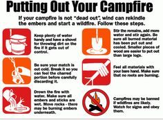 Putting out your campfire