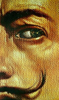 Macrophotographic Self Portrait with the Appearance of Gala ~ Salvador Dali
