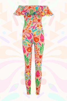 3cb4881d99b Rainbow Beige Festival Bardot Jumpsuit