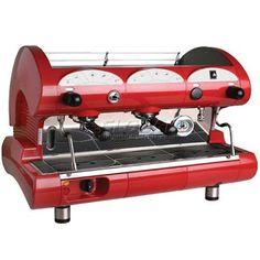 La Pavoni BAR STAR Series Commercial Espresso Machine - Red 2 Group