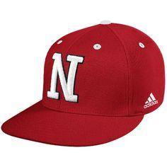 37183f5962f adidas Nebraska Cornhuskers Scarlet On Field Fitted Hat