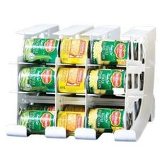 Amazon.com: FIFO Can Tracker- Food Storage Canned Foods Organizer/Rotater/Dispenser: Kitchen, Cupboard, Pantry- Rotate Up To 54 Cans: Home & Kitchen